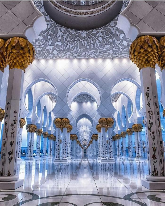 Дизайн мечети в Абу-Даби.