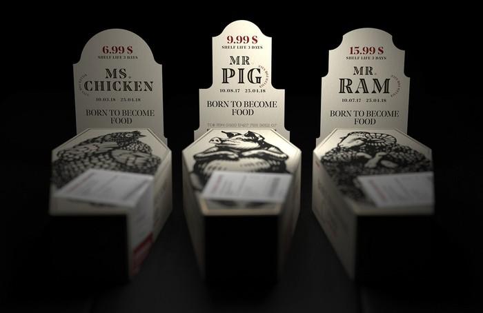 Когда дизайн упаковки для мяса разрабатывает веган. Мясо, Дизайн, Веганы, Интересное, Реклама, Маркетинг, Длиннопост