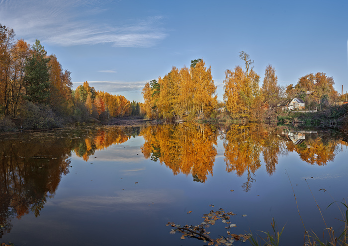 Просто осень Осень, Золото, Отражение, Вода, Пруд, Закат, Фотография