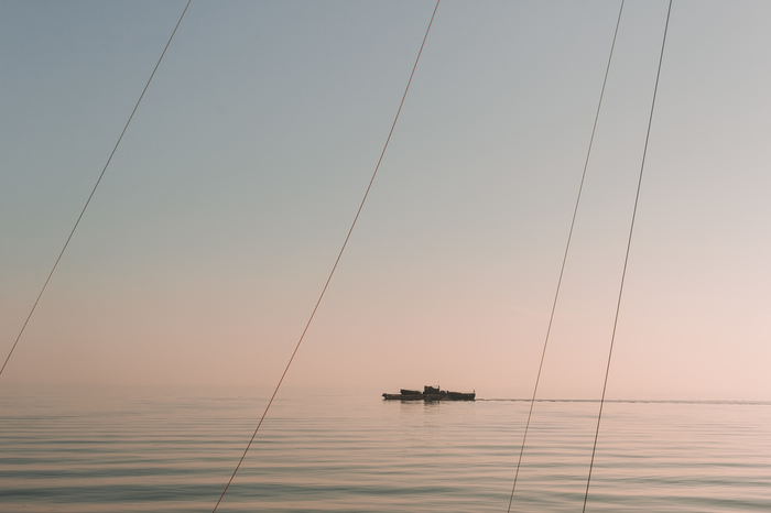 Финский залив, штиль Фотография, Санкт-Петербург, Финский залив, Море, Закат