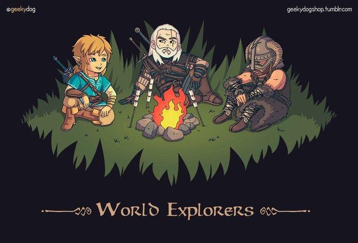 Хорошая компания Ведьмак 3, Skyrim, The Legend of Zelda, Рисунок