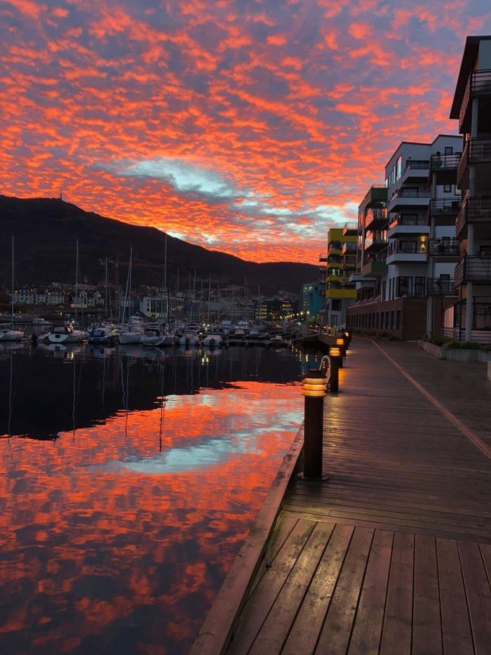 Утро в Бергене, Норвегия