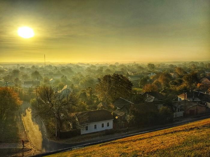 Туман Мобильная фотография, Туман, Осень, Рассвет