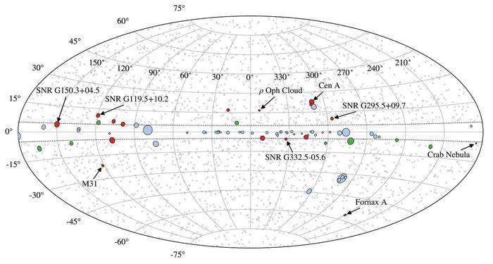Недостающие «гамма-пятна» проливают новый свет на темную материю и магнетизм Астрофизика, Астрономия, Вселенная, Гамма-Пятна, Копипаста