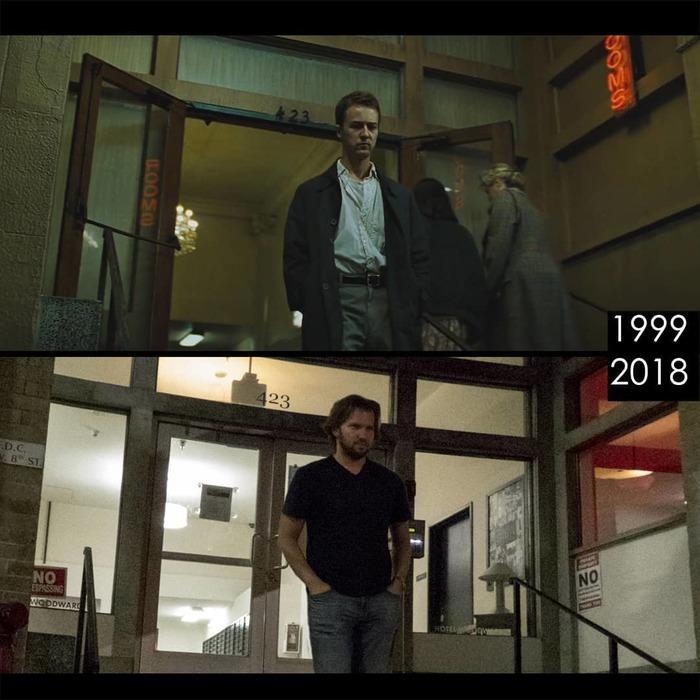 Парень из Лос-Анджелеса разыскивает места съёмок старых фильмов и воссоздаёт кадры оттуда Фильмы, Тогда и сейчас, Длиннопост, Подборка