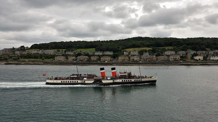 Уэверли, последний в мире морской пароход с гребным колесом. Пароход, Шотландия