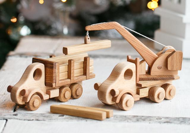 Кран и лесовоз Гифка, Детские игрушки, Деревянные игрушки