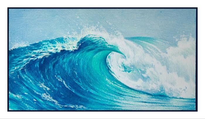 Рисунок цветными карандашами Рисунок карандашом, Картинки, Карандаш, Цветные карандаши, Волна, Море