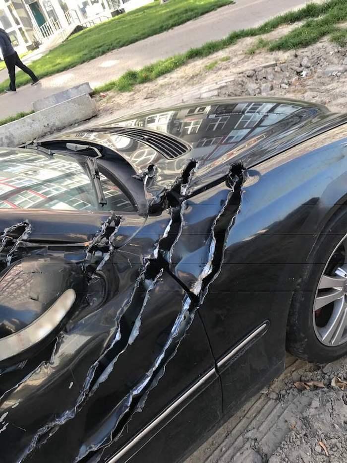 WTF? Авто, Царапина, Фотография, Длиннопост