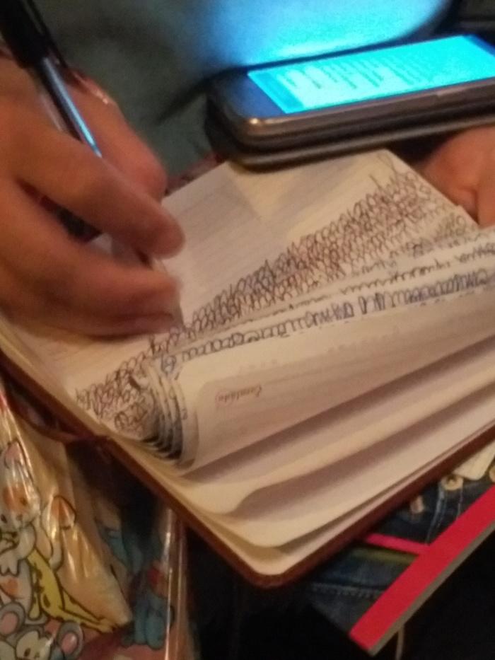 Будущий врач? Девушки, Студентка, Почерк, Автобус, Длиннопост