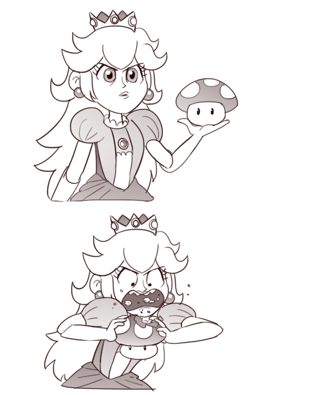 Super Mushroom Markmak, MoringMark, Комиксы, Марио, Bowsette, Princess Peach, Игры, Длиннопост