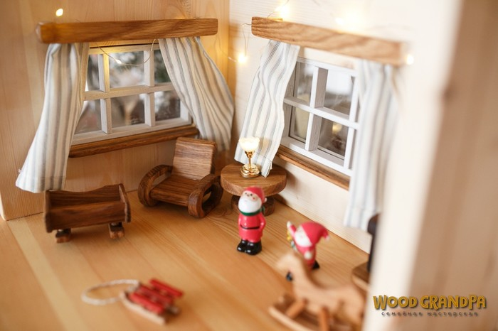 Рождественский домик. Деревянные игрушки, Ручная работа, Длиннопост