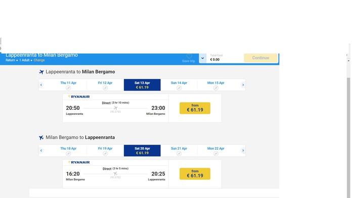 За 8 тыс р из Лаппеенранты до Милана и обратно на Ryanair. Ryanair, Лаппеенранта, Самолет, Лоукостер, Новости, Авиация, Путешествия, Италия
