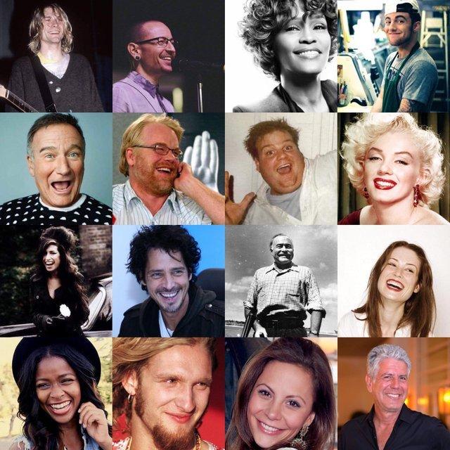Так выглядит депрессия Депрессия, Знаменитости, Эмми уайнхаус, Робин Уильямс, Эрнест Хемингуэй, Мэрилин Монро, Курт Кобейн