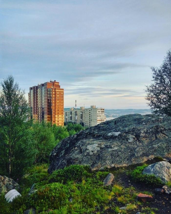 Солнечный денёк в Мурманске Мурманск, Природа, Город, Кольский полуостров, Длиннопост