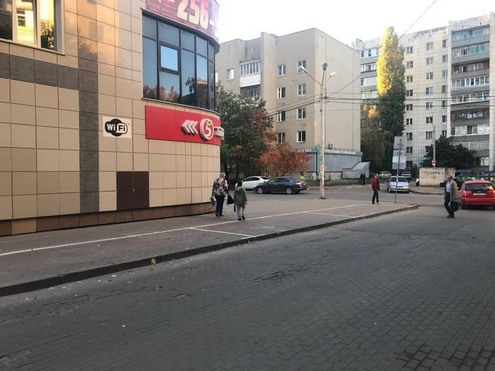 В Воронеже сделали платную парковку в центре... На тротуаре. Платная парковка, Воронеж, И так сойдет