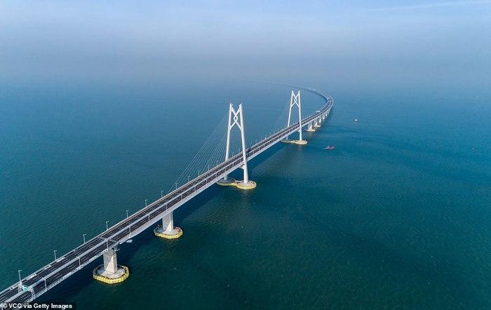 В Китае готовятся открыть самый длинный мост протяжённостью в 55км Мост, Китай, Прогресс, Транспорт, Длиннопост, Красота, Фотография