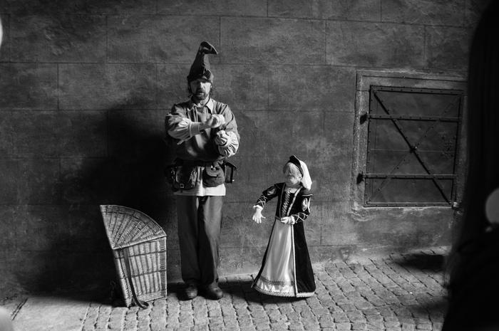 Чехия. Чешский Крумлов праздник пятилепестковой розы. Чехия, Местный празник, Чёрно-Белая фотография, Длиннопост