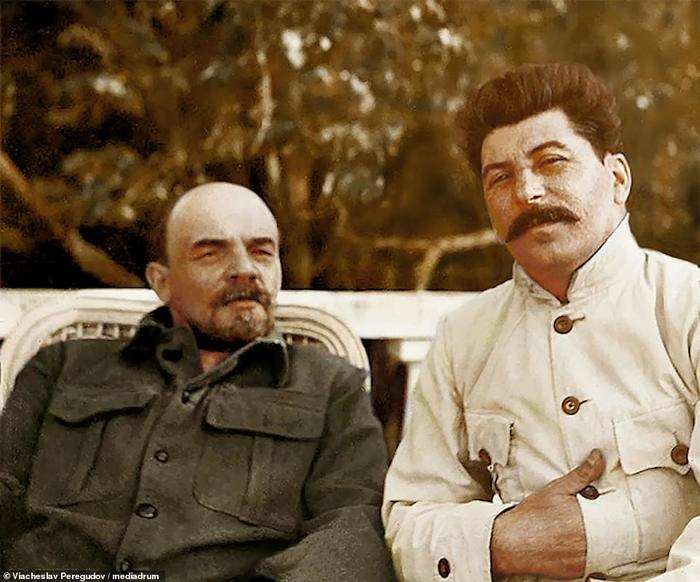 Революция в цвете История в цвете, Исторические фотографии, Ленин, Троцкий, Сталин, Николай II, Октябрьская революция, Длиннопост