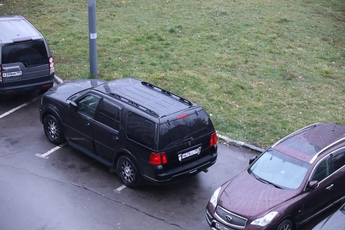 Олень на парковке Олень, Неправильная парковка