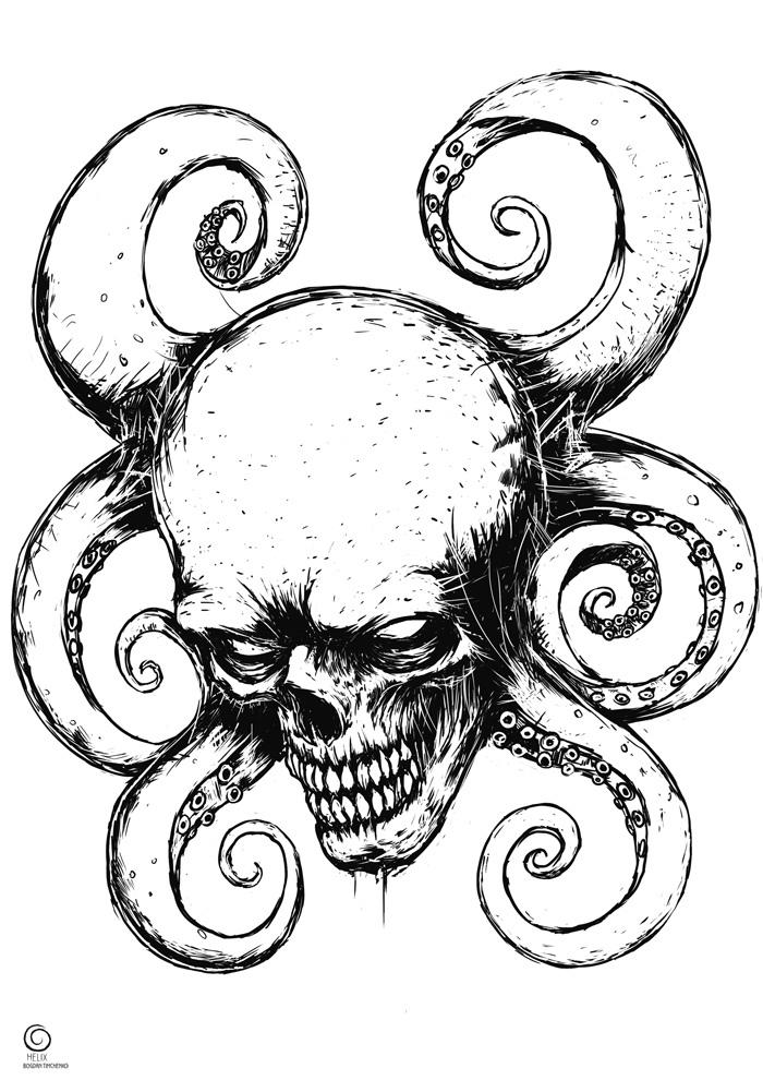 Красный череп Красный череп, Длиннопост, Суперзлодеи, Marvel, Рисунок, Цифровой рисунок