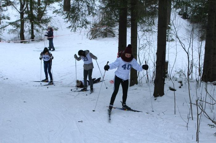 Мой первый лыжный заезд. Лыжи, Зима, Грация