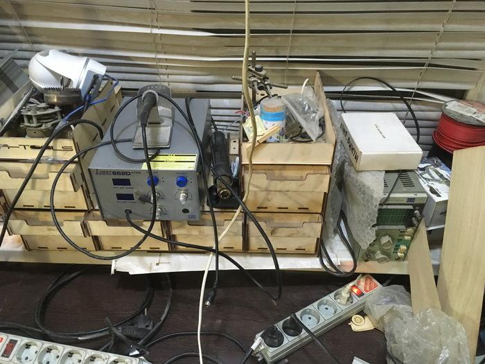 Просто модульный органайзер. Органайзеры, Фанера, Рукоделие без процесса, Рабочее место, Длиннопост