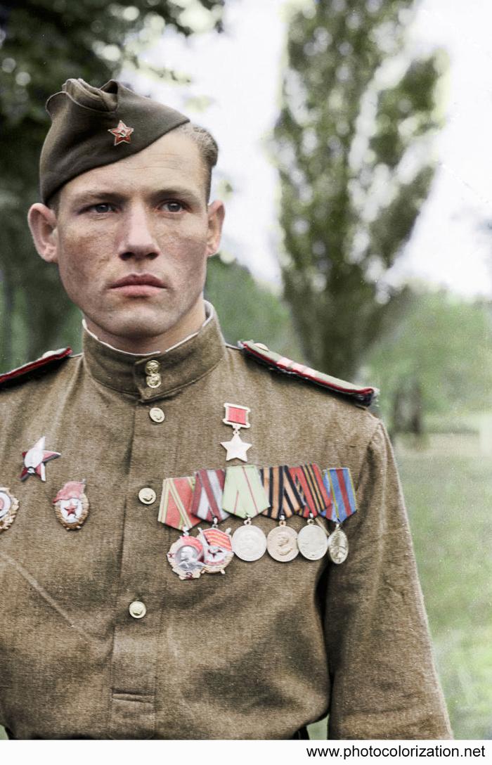 Моя колоризация Колоризация, Великая Отечественная война, Егоров, Герой Советского Союза, Длиннопост