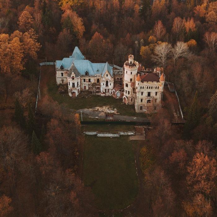 Заброшенный замок во Владимирской области Фотография, Осень, Квадрокоптер, Дрон, DJI Mavic PRO, Путешествия, Усадьба