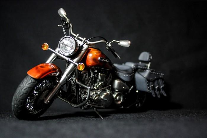 """Yamaha XV1600 RoadStar """"Пожиратель дорог"""" 1/12 Моделизм, Стендовый моделизм, Мото, Yamaha, Длиннопост"""