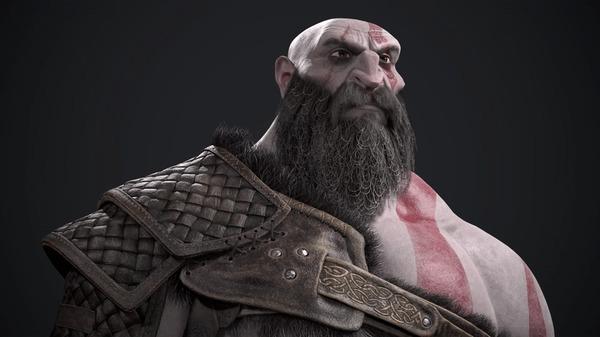 Кратос Игры, Арт, 3D, Digital 3D, God of War, Кратос, Гифка, Длиннопост