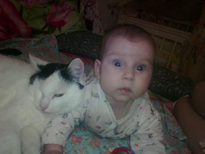 Нянько-кот Кот, Дочь, Дети, Дружба, Милота, Длиннопост