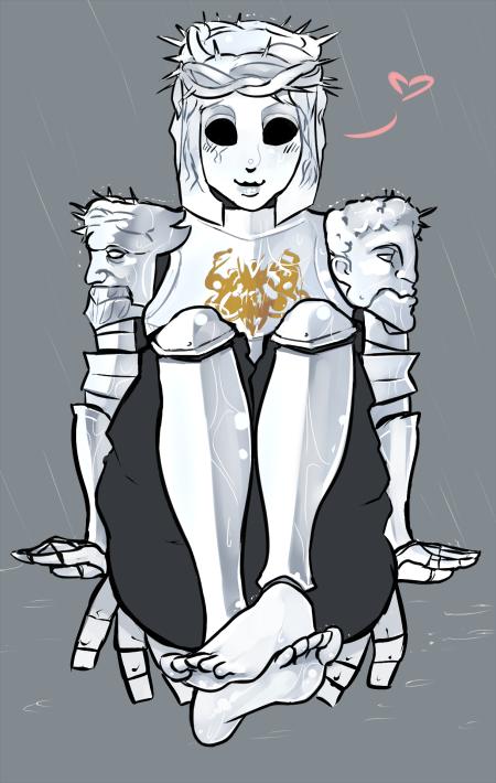 Зеркальная милашка Dark Souls, Dark Souls 2, Рыцарь, Правило 63, Арт, Длиннопост
