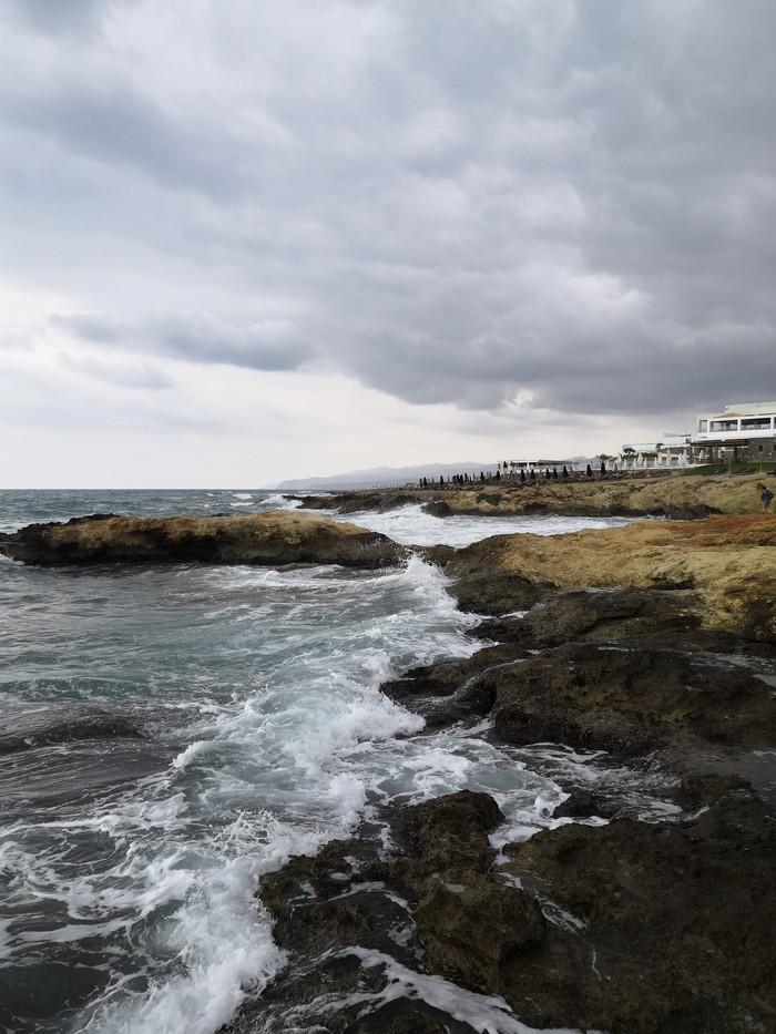 Пасмурный Крит Греция, Крит, Пасмурно, Шторм, Длиннопост