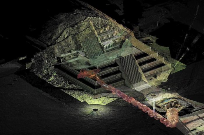 Ученые нашли секретный туннель под древней пирамидой Археология, Технологии, Находка, Тоннель