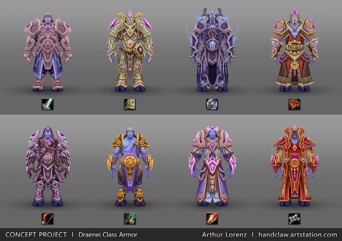 Концепт-арты брони от Arthur Lorenz World of Warcraft, Warcraft, Броня, Арт, Arthur Lorenz, Длиннопост