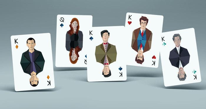 Покерная колода карт по Доктору Доктор кто, Игральные карты, Зарубежные сериалы, Сериалы, Минимализм, Векторная графика, Длиннопост, Дизайн
