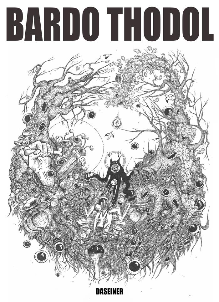 """BARDO THODOL"" - Хоррор комикс (Часть 1) Графика, Комиксы, Хоррор, Иллюстрации, Творчество, Черно-Белое, Арт, Рисунок, Длиннопост"