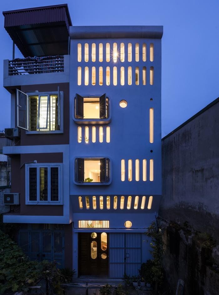 А ведь хорошо получилось – на участке 41 кв. м построили дом 150 кв. м Узкий дом, Жилой дом, Вьетнам, Ханой, Длиннопост