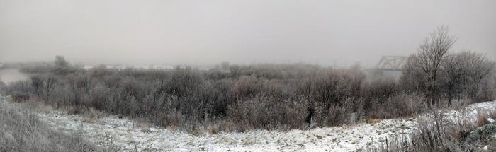 Сегодня в Вологде Туман, Погода, Зима, Фотография, Панорама