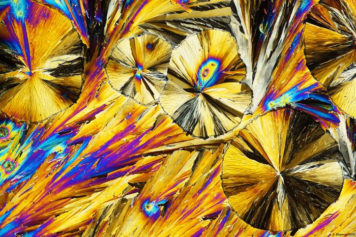 Лимонная кислота Кристаллы, Микроскоп, Поляризация