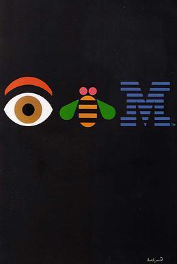 Постер IBM, дизайнер Пол Рэнд. 1981 год. IBM, Плакат, Постер, Реклама, Технологии, Компьютер