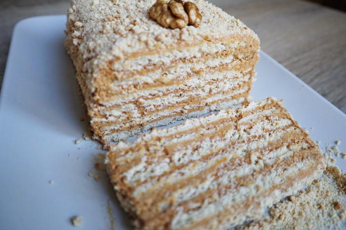 Торт без выпечки Рецепт, Видео, Торт без выпечки, Торт, Торт со сгущенкой, К чаю, Длиннопост