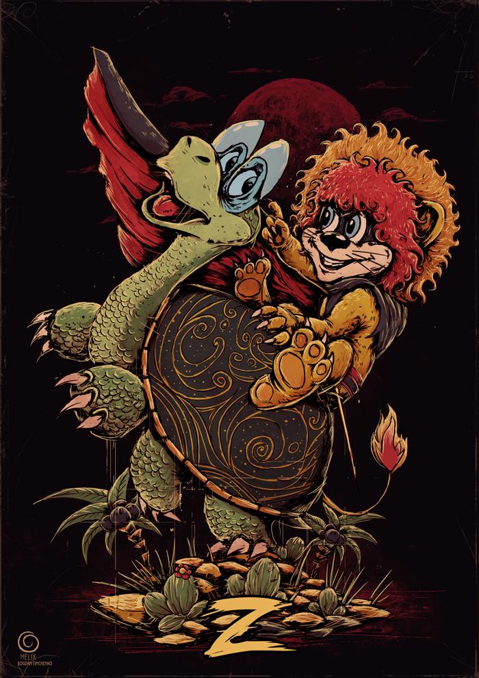 Покатай меня большая черепаха Львенок и Черепаха, Покатай меня большая черепаха, Длиннопост, Мультфильм, Рисунок, Цифровой рисунок