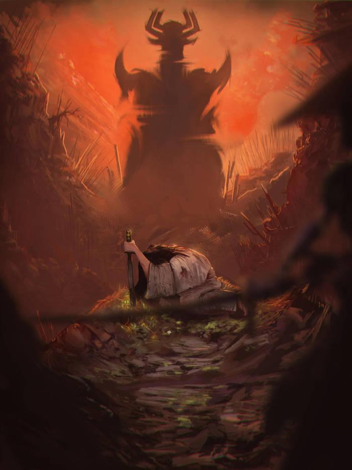Samurai Jack Арт, Samurai Jack, Aku, Мультфильмы