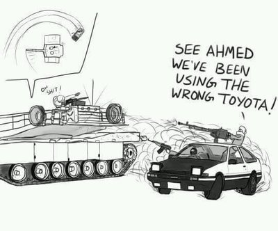 Ахмед, мы использовали неправильную Тойоту!