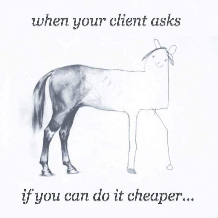 Когда клиент спрашивает можно ли дешевле