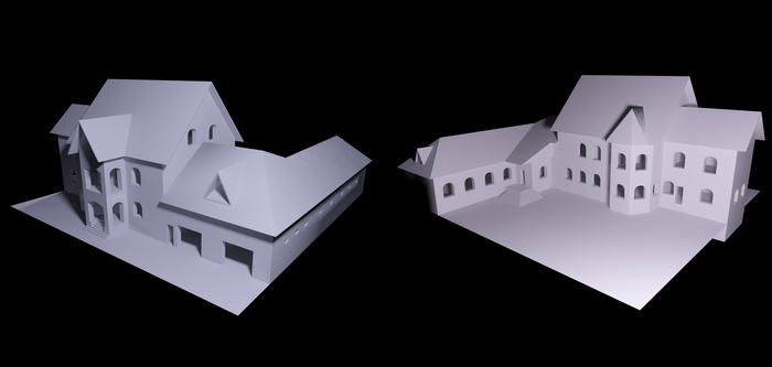 Процесс моделирования коттеджа в 3d max (часть 1) 3d max, Рендер, Коттедж, Процесс, Длиннопост, Vray
