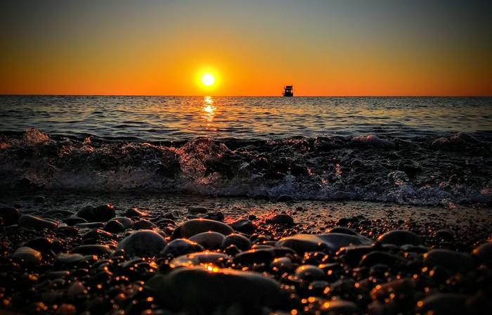 Рассвет в Чирали Рассвет, Солнце, Средиземное море, Турция