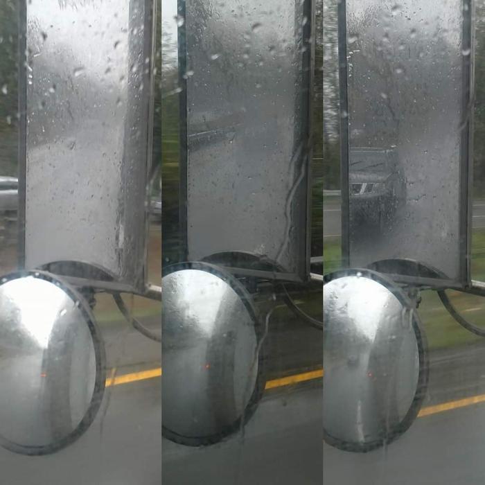 Новые технологии: внезапное появление автомобиля-невидимки! Фотография, Авто, Грузовик, Погода, Ливень, Reddit